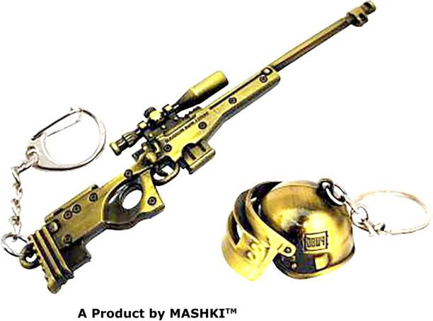 MASHKI Gold Sniper With Antique Helmet Key Chain