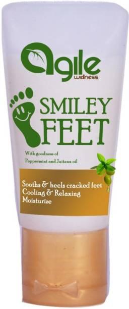 Agile Wellness Smiley Feet for Foot Care Crack Cream