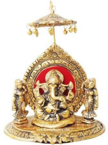 INTERNATIONAL GIFT Gold Plated Ganesh God Idol (26 cm, Gold) Religious Tile