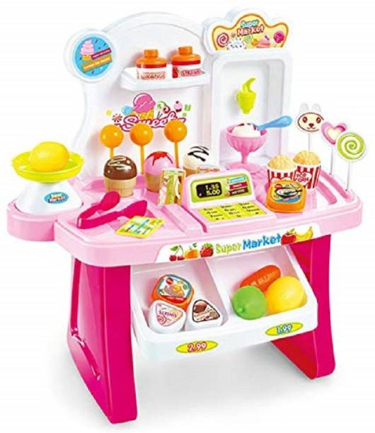 ODDEVEN Kids Mini Super Market 34 Pieces