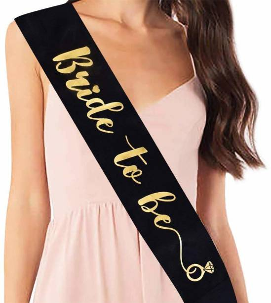 Party Propz Black Bride to Be Sash High Quality for Bachelorette Party Or Bridal Shower