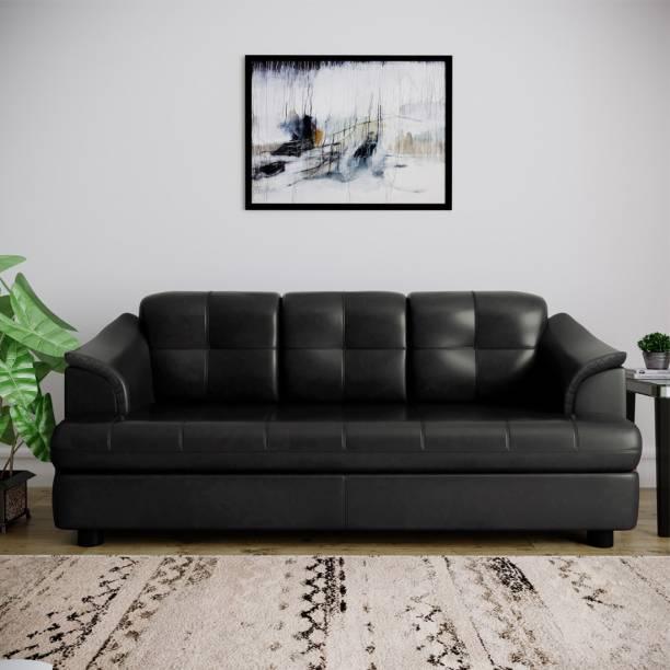 Bharat Lifestyle Gayana Leatherette 3 Seater  Sofa