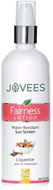 JOVEES Herbal Sunscreen Fairness Lotion , SPF25,100ml - SPF 25 PA++