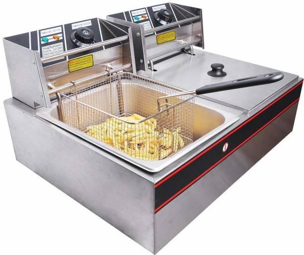 froth & flavor DOUBLE DEEP FRYER 16 L Electric Deep Fryer