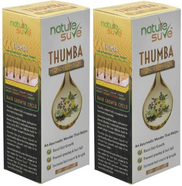 Nature Sure Thumba Wonder Hair Oil for Men and Women – 2 Packs Hair Oil