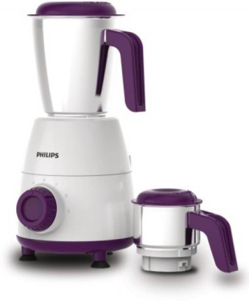 PHILIPS HL7506/00 500 Mixer Grinder (1 Jar, White and Purple)