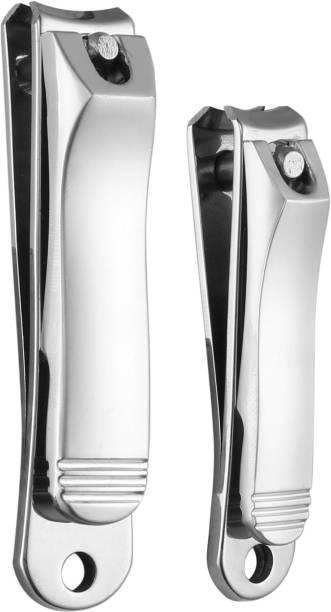 Beauté Secrets Korean Design Stainless Steel Toenail/Fingernail Clipper/Nail Filer Set Of 2 For Thick Nails, Professional Nail Cutter
