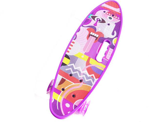 IRIS Complete Cruiser Skateboard with Colorful Light Up Wheel 6 inch x 23 inch Skateboard
