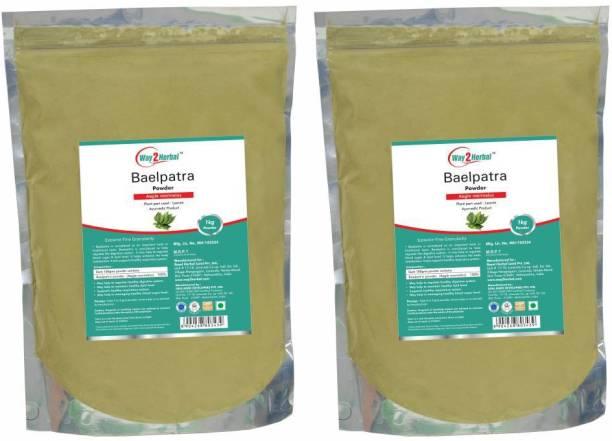 Way2Herbal Baelpatra Powder - 1 kg Value Pack of 2