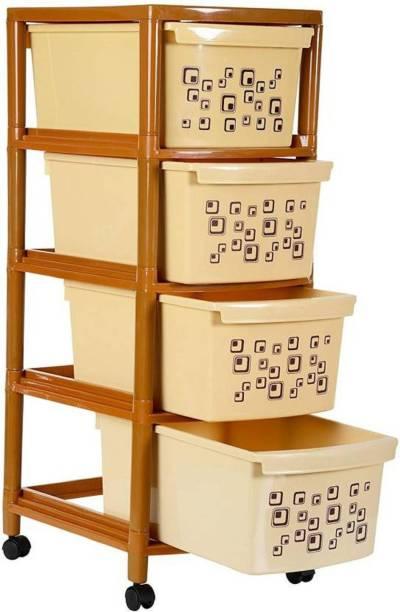 Liza Liza 4 tier Plastic Free Standing Cabinet