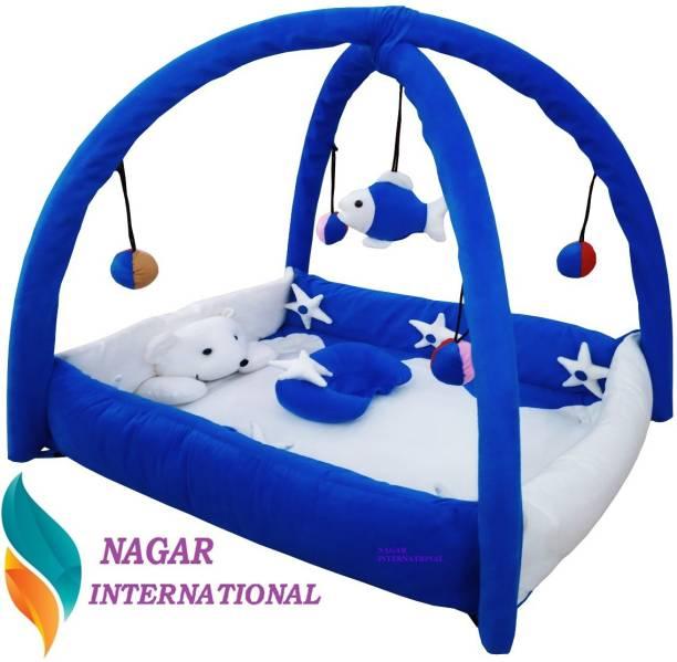 NAGAR INTERNATIONAL Baby Blue Playgym Cum PlayGym met 0-12 Months Baby