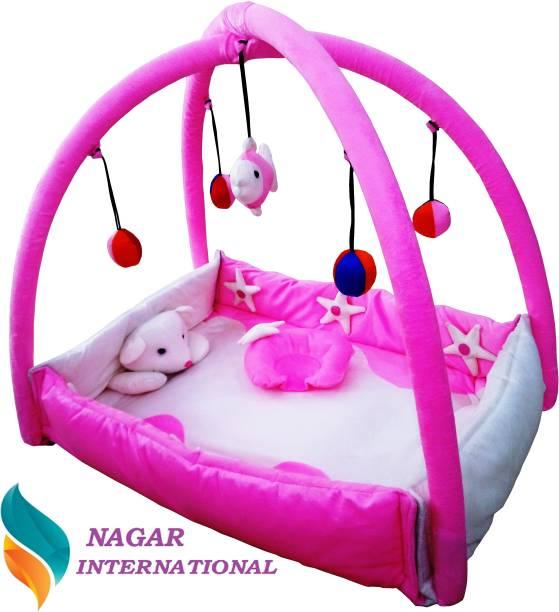 NAGAR INTERNATIONAL Baby Pink Playgym Cum PlayGym met 0-12 Months Baby