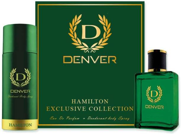 DENVER Hamilton Gift Set Perfume 100Ml + 165 ml Deodorant Spray  -  For Men