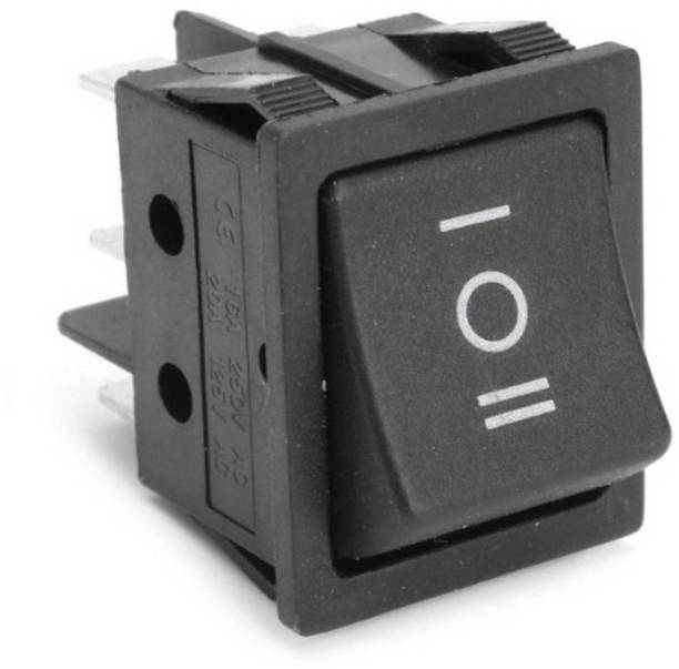 Divyanshi Forward/Reverse Switch for Ride on Electric Bikes and Cars (Black) 16 A Three Way Electrical Switch