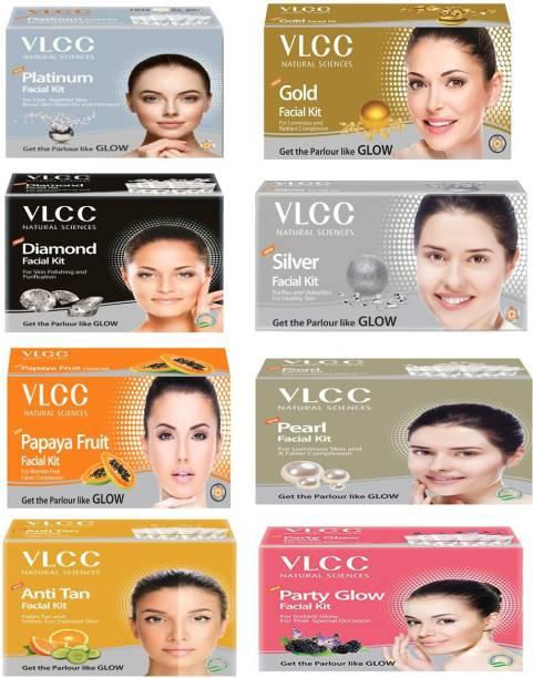 VLCC platinum gold diamong silver papaya pearl anti tan & party glow facial kit