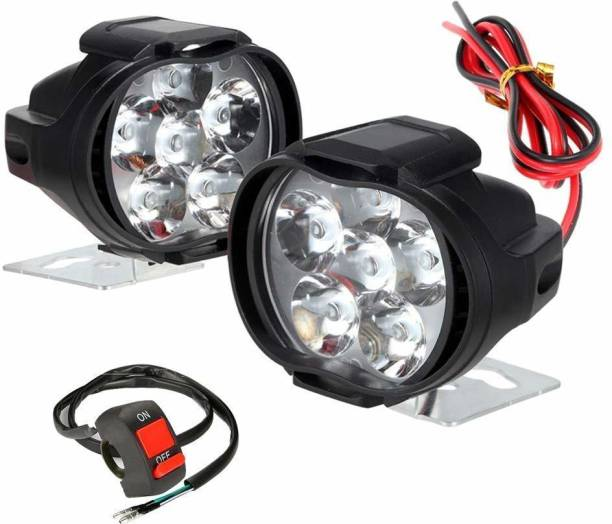 RA ACCESSORIES LED Fog Lamp Unit for Hero, Yamaha Micra Active, Universal For Car