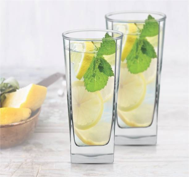 Fancy Craft (Pack of 6) Crystal Clear Transparent Water & Juice Glasses (Set of 6) Glass Set