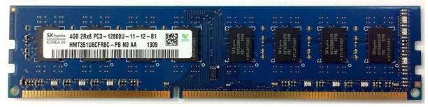Hynix PC3 12800, DESKTOP PC RAM DDR3 4 GB (Dual Channel) PC (HMT351U6CFR8C-PB , DDR3 1600MHZ , 2RX8)