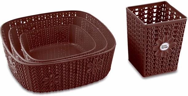 Flipkart SmartBuy Combo Of 4 Multi-Size Multipurpose Basket Storage Storage Basket