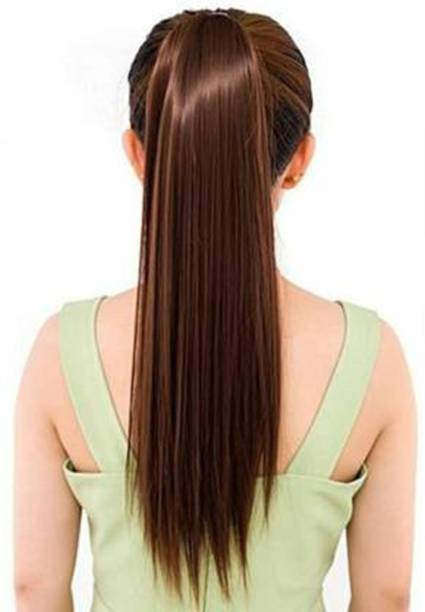 D-DIVINE Straight Brown Ribbon Ponytail Hair Extension