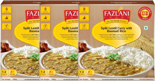 FAZLANI FOODS Ready to Eat Dal Tadka with Basmati Rice-300gm each 900 g