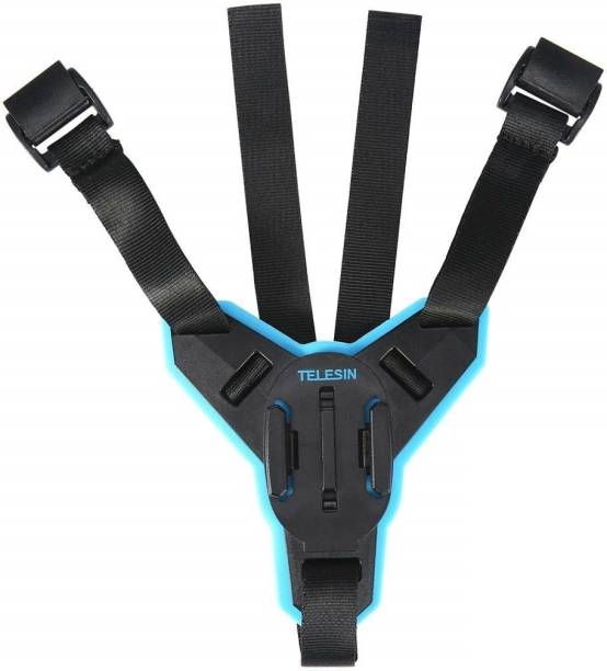 Yantralay Telesin Helmet Chin Strap Mount For GoPro, SJCAM, Yi, DJI Osmo & Other Action Cameras Strap