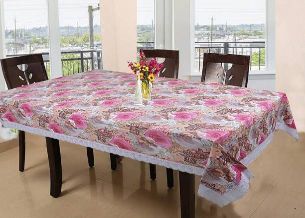 CASA FURNISHING Floral 6 Seater Table Cover