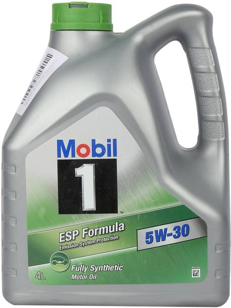 MOBIL 5W30 Fully Synthetic Engine Oil 4L ESP (Emission System Protection) designed to provide exceptional cleaning power, wear protection and overall performance Full-Synthetic Engine Oil