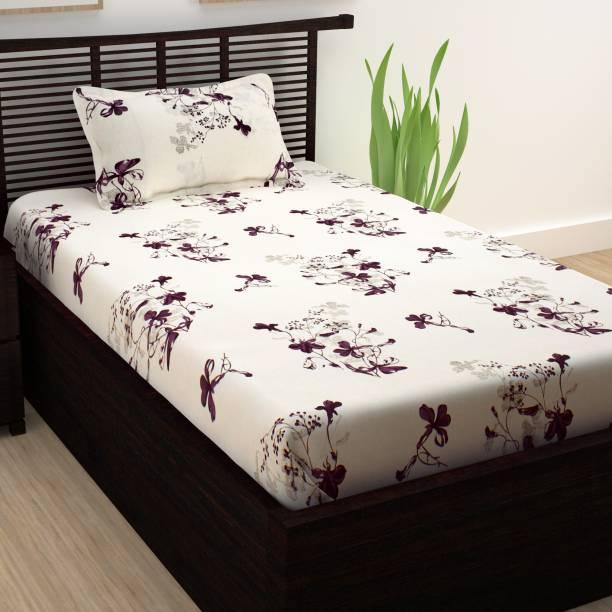 Story@home 208 TC Cotton Single Floral Bedsheet