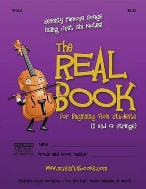 The Real Book for Beginning Viola Students (C and G Strings)