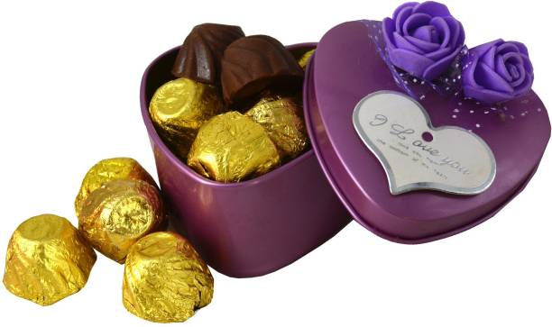 Midiron Beautiful Heart Shape Tin Box IZ19Choco15TinBox2Pur-01 Brittles