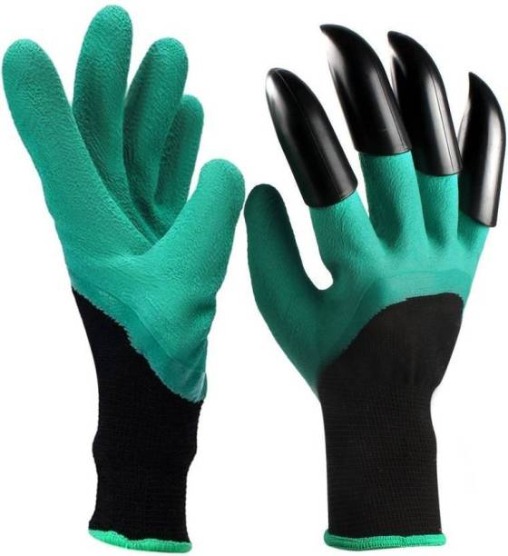CONTINENTAL Arden Genie Gloves with Built in Claws for Digging Planting Nursery Plants, Garden Gloves Easy to dig and Plant Safe for Rose Pruning - 1 Pair (701-1) Gardening Shoulder Glove