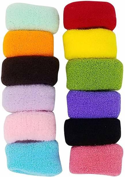 Shining Angel Multicolour Cotton Wool Soft Bun Rubber Bands for Women/girls Hair Band