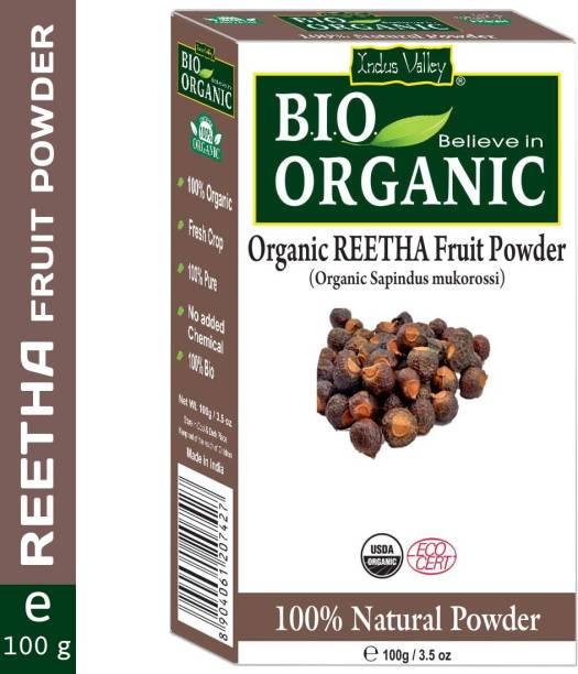 Indus Valley Bio Organic 100% Natural Reetha Powder