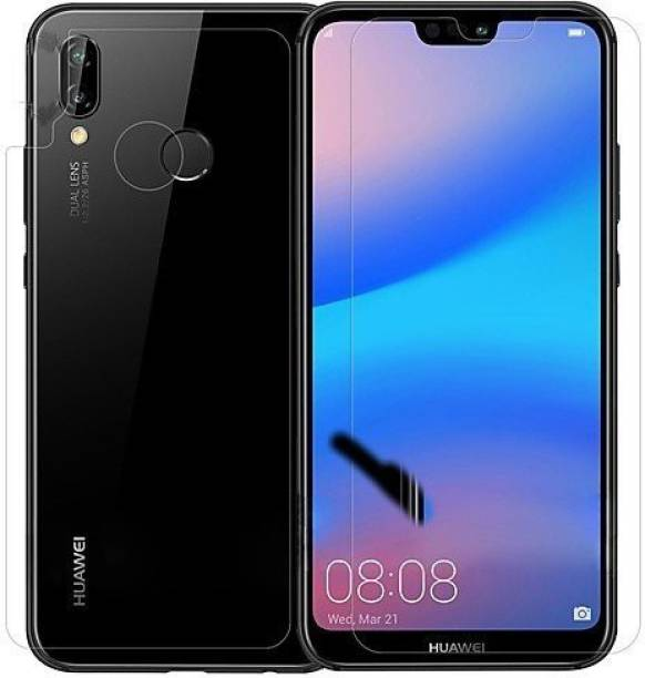 Mobilive Front and Back Screen Guard for Huawei Honor P20 Lite Flexible Fiber 0.2MM Tempered Glass Screen Protector With 9H Hardness