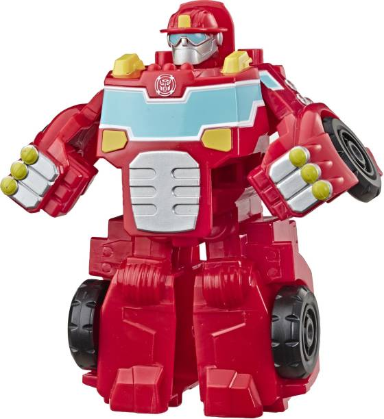 TRANSFORMERS Heroes Rescue Bots Academy Heatwave the Fire-Bot Converting, 4.5-Inch Figure, For Kids Ages 3 and Up