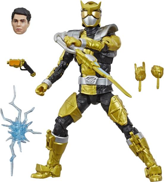 Power Rangers Lightning Collection 6-Inch Beast Morphers Gold Ranger Collectible Figure Toy with Accessories
