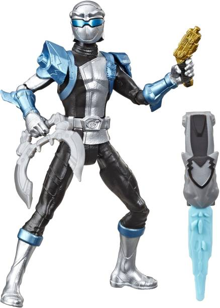 Power Rangers Beast Morphers Silver Ranger 6-inch Action Figure Toy inspired by the TV Show