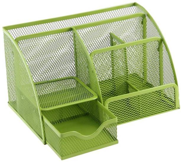 Amazing 7 Compartments Metal Multipurpose Mesh Stationery holder