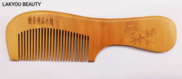 DMR PROFESSIONAL All-Purpose Wooden Comb 02   Anti Static