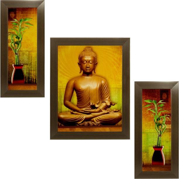 Indianara Gautam Buddha 1832 Digital Reprint 18 inch x 12 inch Painting