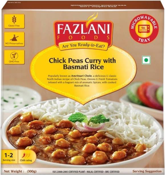 FAZLANI FOODS Ready to Eat Amritsar Chole with Basmati Rice (300gm) 300 g