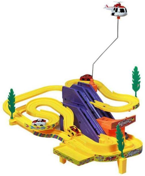 AV INT Track Racer Toy Game Car Racing Ramp Set Battery Operated Musical