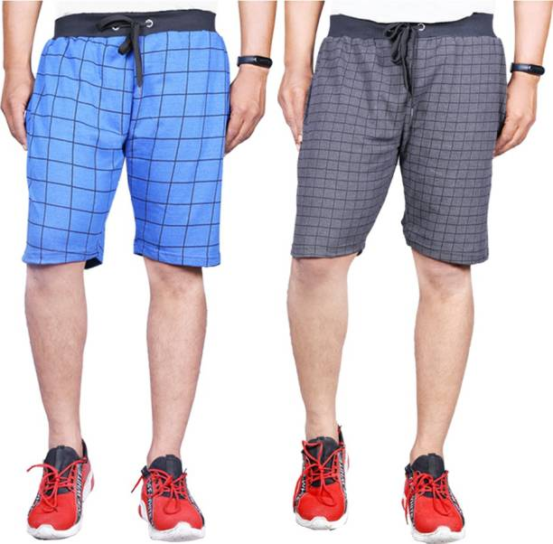 Knit Vey Striped Men Reversible Multicolor Basic Shorts