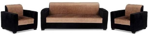 sreebala Leather 3 + 2 BROWN Sofa Set