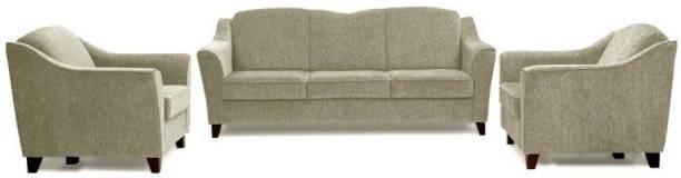 sreebala Leather 3 + 2 ash grey Sofa Set