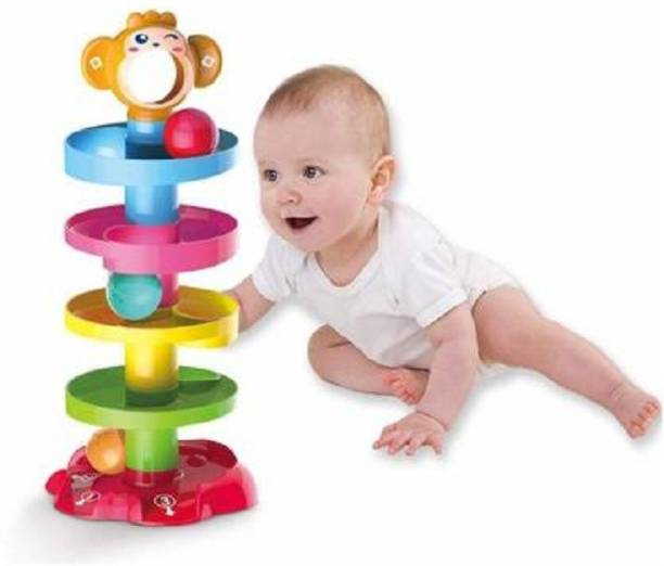 Akshit Ball Drop Rolling & Swirling Tower Ramp for Baby and Toddlers
