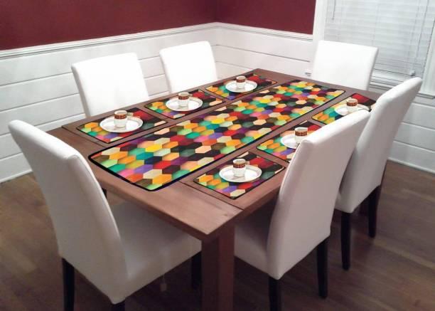Home Trendz Multicolor PVC Table Linen Set