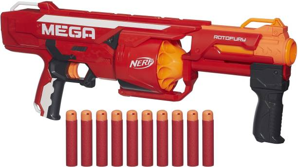 Nerf N-Strike Mega RotoFury Blaster Guns & Darts