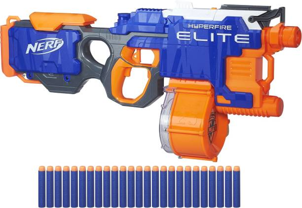 Nerf HyperFire Motorized Elite Blaster,25-Dart Drum Guns & Darts